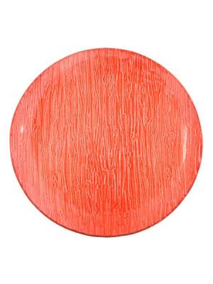 Чиния кръгла червена